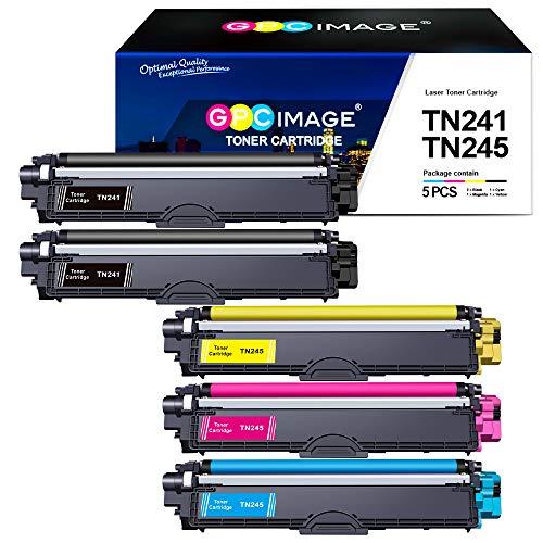 GPC Image TN241 TN245 Cartucce Toner Compatibili per Brother HL-3140CW MFC-9140CDN DCP-9020CDW MFC-9340CDW MFC-9330CDW HL-3150CDW HL-3170CDW DCP-9022CDW DCP-9015CDW MFC-9332CDW (2 BK/1 C/1 M/1 Y)