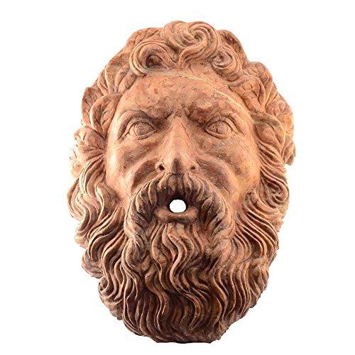 mascherone Rostro masculino de pared de mármol rojo Verona para fuente