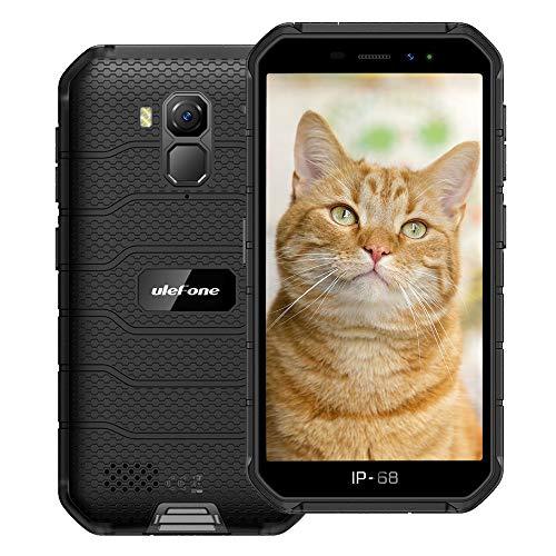 Ulefone Armor X7 (2020) 4G Android 10 Outdoor Handy Smartphones, 16GB Speicher 2GB RAM 4000mAh Akku Smart Button wasserdichte Kamera, WiFi GPS FM Schwarz