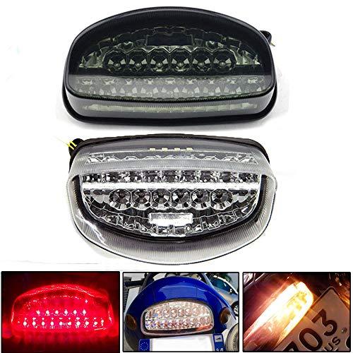 Motocicleta LED Luz trasera integrada Luz de freno Señal de giro Ajuste para CBR1100XX HORNET 250 HORNET 600 (Fumar)