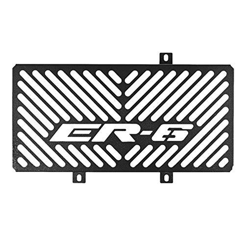 WOVELOT Cubierta de ProteccióN de Rejilla de Radiador de Motocicleta de Acero Inoxidable para Kawasaki Er6N Er-6N Er6F Er-6F 2009-2011 (Negro)