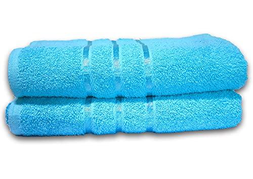 Juego de toallas de algodón egipcio, 2 toallas de baño -600 g/m² (AQUA)