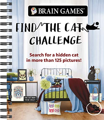 Brain Games - Find the Cat Challenge: Search for a Hidden Cat in More Than 125 Pictures! (Brain Games - Picture Puzzles)