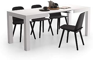 Mobili Fiver Mesa de Cocina Extensible Modelo First Color Fresno Blanco 120 x 80 x 76 cm Made in Italy