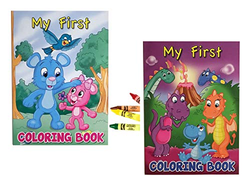 Toddler Coloring Books - My First Coloring Books and Large Crayons Set