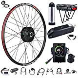 BAFANG 48V 500W Front Hub Motor Electric Bike Conversion Kit for 26inch Wheel Drive Engine with Display with Battery (750C,Kettle Battery 48V 10.4Ah)