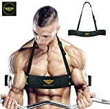 Arm Blaster for Biceps & Triceps Dumbbells & Barbells Curls Muscle Builder Bicep Isolator for Big Arms Bodybuilding & Weight Lifting Support for Strength & Muscle Gains by Be Smart (Black)