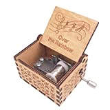 Youtang Music Box 18 Note Hand Crank Musical Box Carved Wood Musical Gifts,Play Over The...