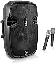 """Portable PA Bluetooth Speaker System - 1000W Active Powered Home Outdoor Speaker w/ 12"""" Subwoofer 1.3"""" Tweeter, Rechargeab..."""