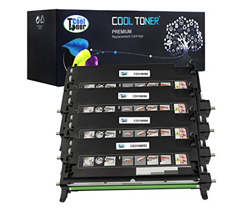 Cool Toner Compatible Toner Cartridge Replacement for DELL 310-8092 310-8094 310-8096 310-8098 for Printer Dell 3110 (Black, Cyan, Magenta, Yellow, 4-Pack)