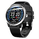 Smart Watch Fitness-Tracker mit Herzfrequenzmesser Aktivitäts-Tracker Sportuhr Schrittzähler Schrittzähler Armband für Kinder Männer und Frauen Schwarz