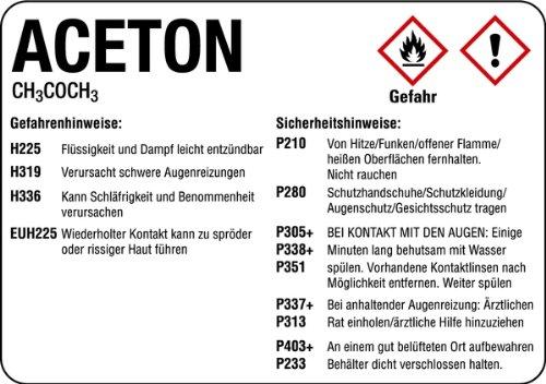 LEMAX® Aufkleber Aceton 148x210mm