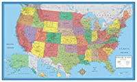 24x36 United States, Usa Classic Elite Wall Map Mural Poster (paper Rolled) New