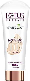 Lotus Herbals Whiteglow Matte Look All In One Dd Creme Spf 20, Natural Beige (Day Cream), 30 g