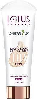 Lotus Herbals Whiteglow Matte Look All In One Dd Crème Spf 20 - Pink Beige, 50 g