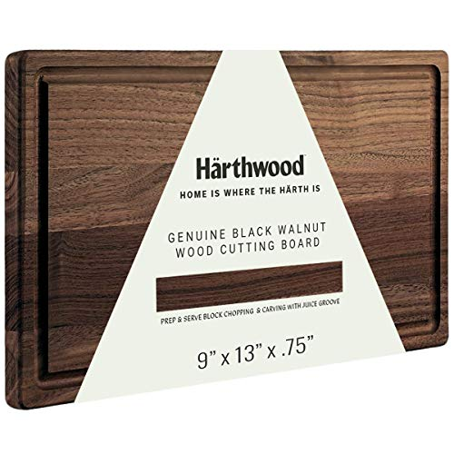 """Härthwood Walnut Wood Cutting Board with Juice Groove 