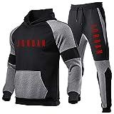 Smkenor Conjunto De Chándal para Hombre Jordan 23# Sudadera con Capucha Top Bottoms Jogging Joggers Gym Sport Sweat Suit Pantalones (S ~ 3XL)