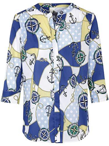 BASLER Damen Bluse mit maritimem Print und Ösen