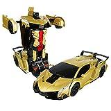 leiyini Transformation Car Toy,Car Model with Gesture Induction Deformation Car Robot