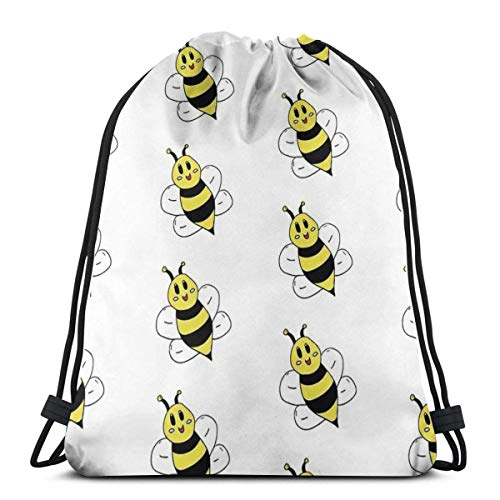 Unisex Drawstring Backpack,Cartoon Bumble Bee Boys Girls Teens School Backpack,Foldable Sackpack Backpack,Sports Gym Bag For New Year Gift, Climbing