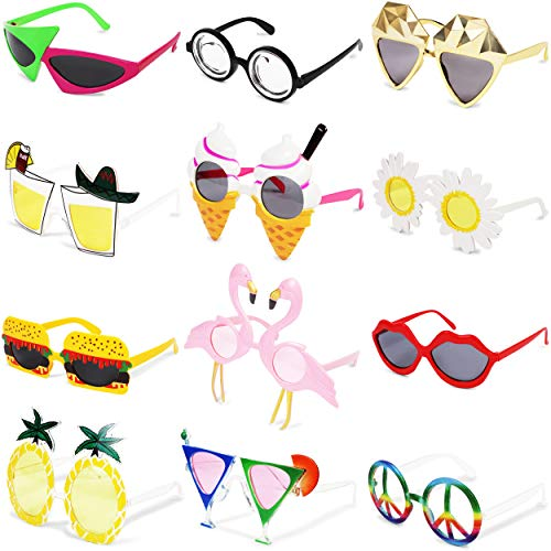 Funny Sunglasses, Photo Booth Prop (12 Pack)