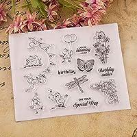 鳥のクリアスタンプまたはDIYスクラップブッキング/カード作成/キッズ楽しい装飾用品のスタンプA678