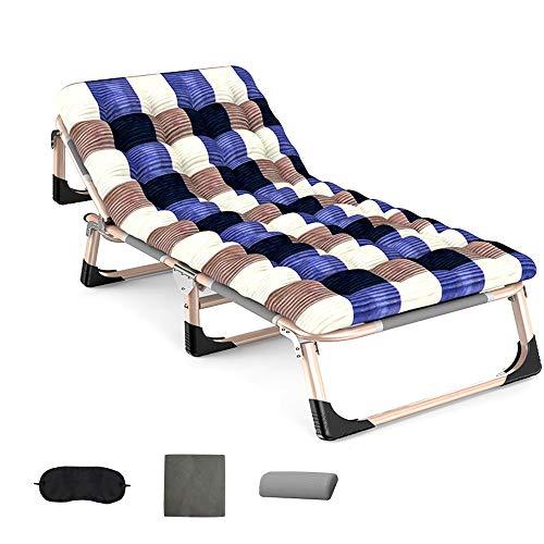 Desk Chairs LVZAIXI Folding Sunbed Cushion,Lay Flat Garden Sun Chair, Adjustable Backrest Outdoor Patio Loungers (Color : B)