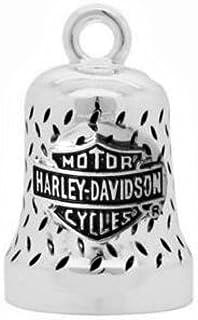 HARLEY DAVIDSON Motorrad Ride Bell Anhänger Glücksbringer Willie G Diamond Plate