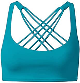 ZYDP Women's Yoga Running Fitness Sports Bra Workout Activewear Top Tank Bra (Color : Blue, Size : L)