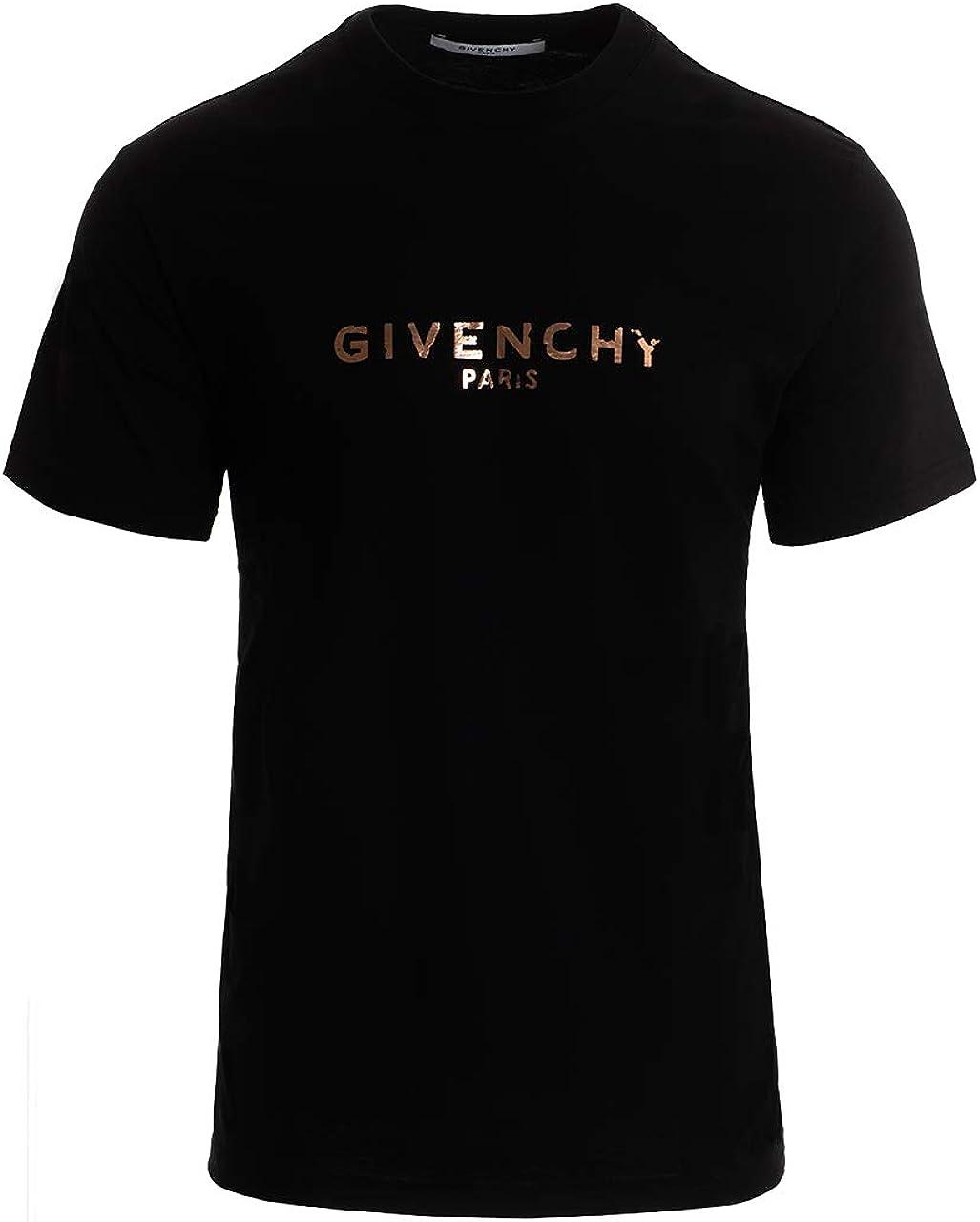 Givenchy T Shirt für Herren, schwarz, Logo Vintage, goldfarben ...