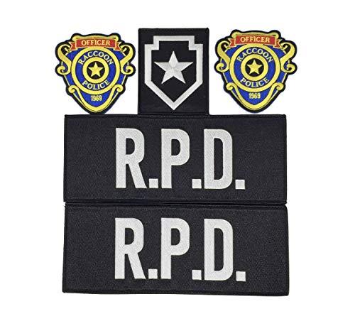 Super6props Waschbär City Police R.P.D. und Officer Patches für Taktische Weste 5er Pack Combo …