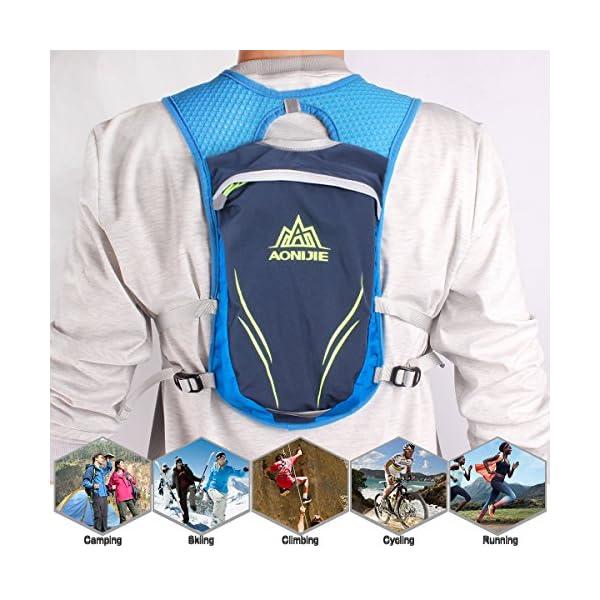 512jtEHuaHL. SS600  - Geila Mochila de hidratación, Chaleco de hidratación al Aire Libre Sport Trail Marathoner Running Race Mochila Ligera…