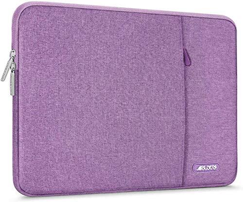 MOSISO Laptop Sleeve Borsa Compatibile con MacBook PRO/Air 13 Pollici, 13-13,3 Pollici Notebook Computer, Poliestere Manica Verticale con Tasca, Violet Chiaro