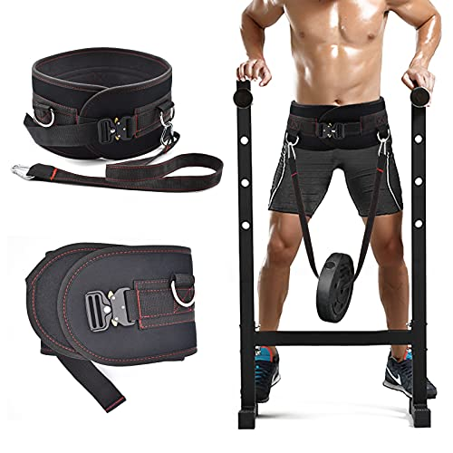 XonyiCos Fitness Dip Belt for Men and Women, Adjustable Size Weight Belt for Weightlifting, Pull Ups, Power Strength Cross Training, Bodybuilding Workouts Dumbbell Belt