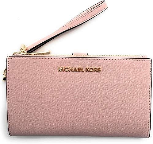 Michael Kors Jet Set Travel Double Zip Saffiano Leather Wristlet Wallet Blossom Medium product image
