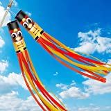 TURNMEON 2 Pack 60' Turkey Windsock Autumns Harvest Fall Thanksgivings Decorations Wind Sock Outdoor Hanging Tree Home Garden Yard