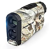 PEAKPULSE LC1200A Hunting Laser Rangefinder Bow Range Finder Camo Distance Measuring Outdoor Wild 1200Y with High-Precision Continuous Scan Free AAA Battery