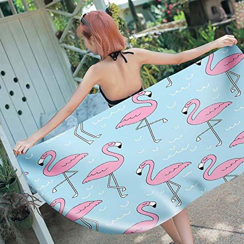 Stillshine. Toallas Playa Toalla Baño Secado Rápido Absorción Agua Microfibra Extra XL XXL, Flamingo Toalla con Motivo Rayas Piña Niños Adultos Jóvenes Hombres Manta (A4,150x200 cm)
