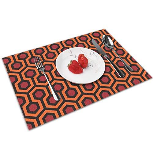 Dingl The Shining – Teppich Muster Platzdeckchen waschbar rutschfest für Küche Abendessen Tischmatte, leicht zu reinigen, 30,5 x 45,7 cm, 4er-Set