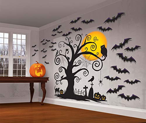 Familia Friendly Halloween Set de Escena de pared