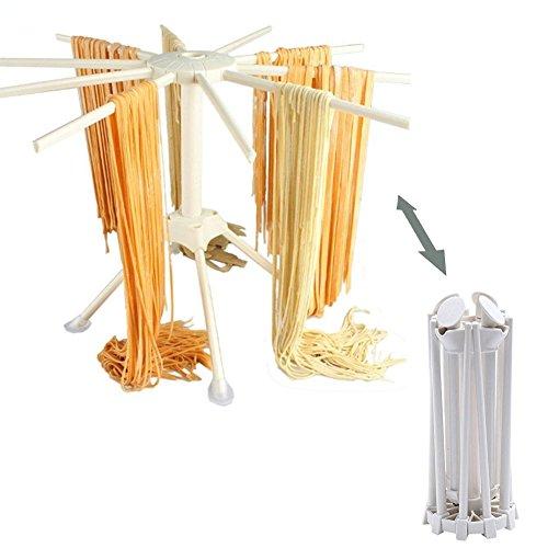 Yookay zerlegbarer Pasta Wäscheständer,Nudelständer für selbstgemacht Pasta, faltbarTrocknungs-Rack
