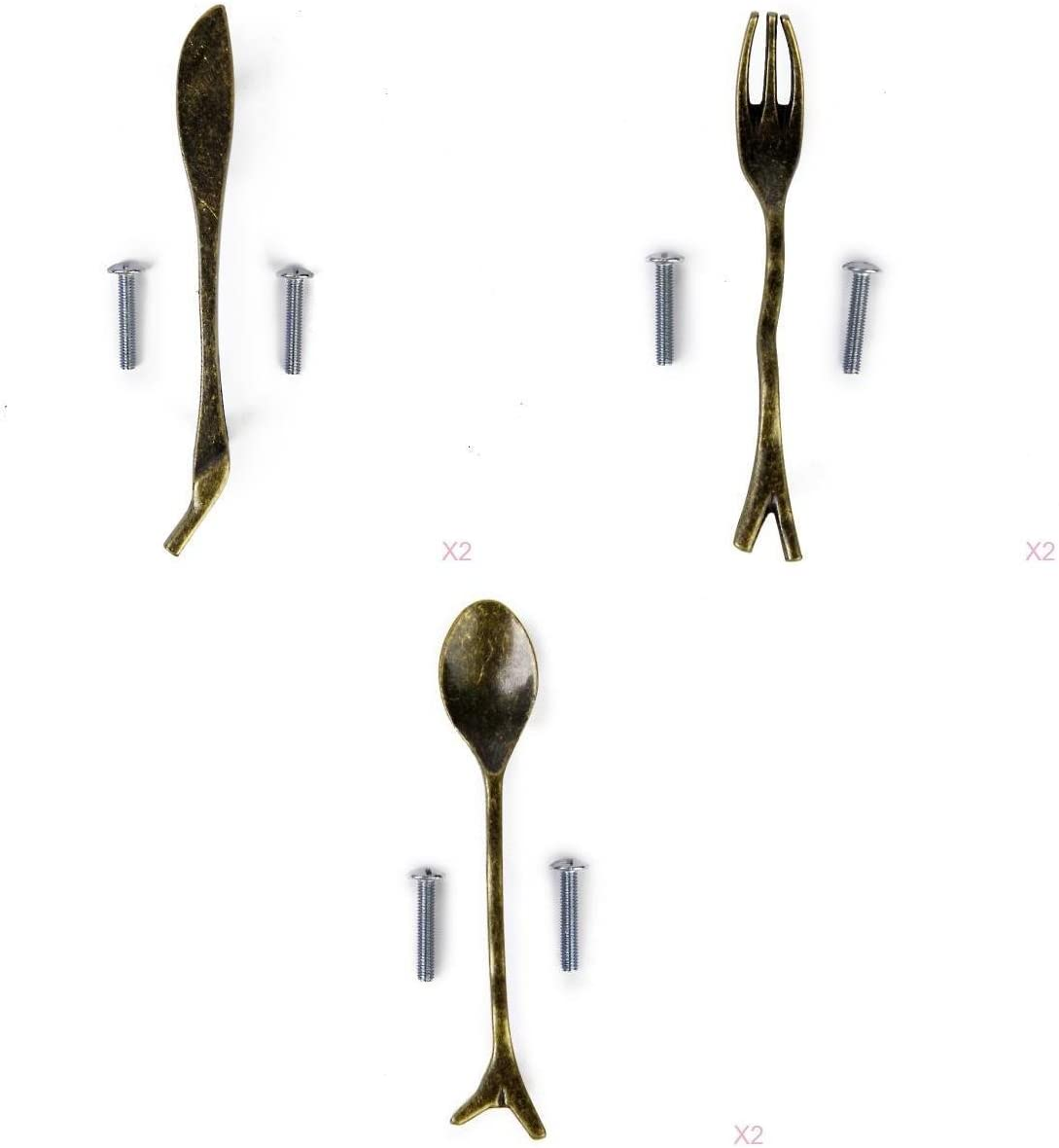 Nippon regular agency 3 Popular products Sets 6pcs Knife Fork Spoon Kitchen Closet Pull Cabinet Drawer