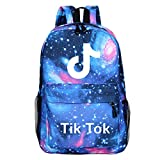 TIK Tok Backpack -YUESEN Teenager Schoolbag Outdoor Travel Bag Color Luminous Pattern Backpack Galaxy Plenty of Storage Bag fit School, Travel, Outdoors for Teen Boys and Girls