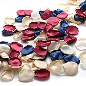 Gazeer 600PCS Rose Petals Silk Artificial Flowers Petals Flower Girl Scatter Petals Fake Scatter Petals for Wedding Table Centerpieces Party Dinner Table Decoration and Wedding Aisle Decoration