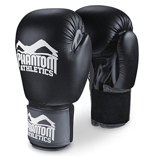 Phantom Herren Boxen Sandsackhandschuhe, Black, S/10 Oz