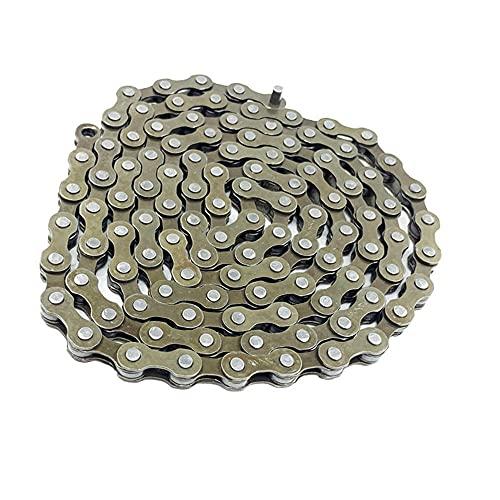 Cadena de una sola velocidad de bicicleta, coche de carreras de bicicleta ordinario universal, cadena de coche de una sola velocidad 114 cadena