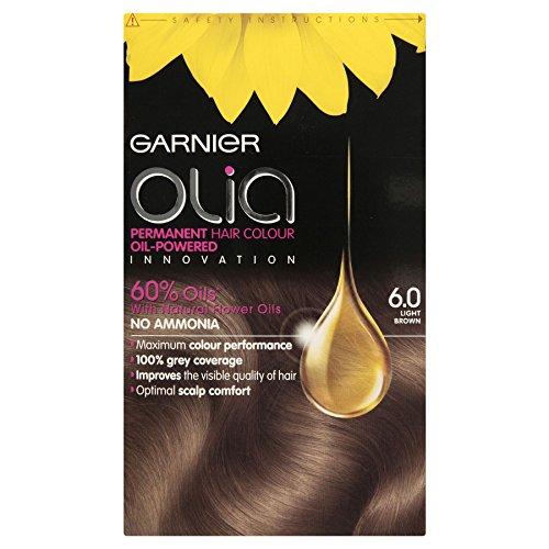 3x Garnier Olia permanente pelo color 6.0luz marrón
