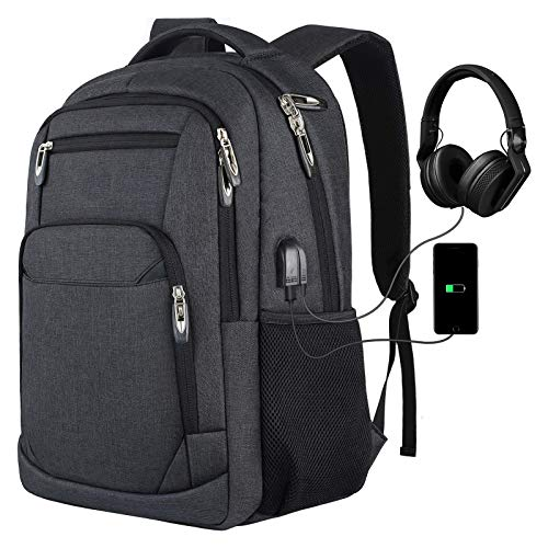 Backpack for Men,School Backpack College Backpack Business Backpack Laptop Bookbag with USB Charging Port Fits 15.6 Inch Laptop and Notebook