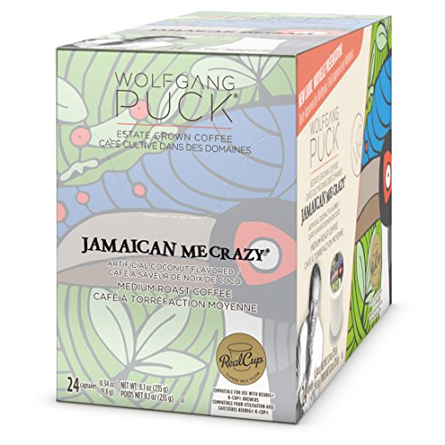 Wolfgang Puck Jamaican Me Crazy K-Cup Coffee, 96 Count Case, Compatible with All Keurig K-Cup Brewers, including Keurig 2.0