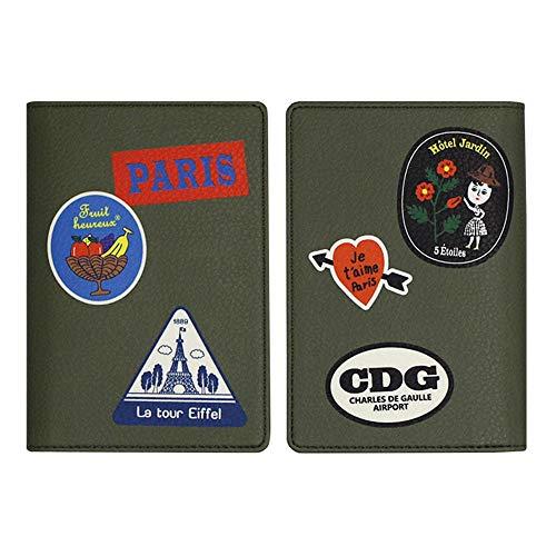OohLaLa 1537 PASSPORT CASE Ver.5 パスポートケース パスポート入れ ケース パスポート かわいい おしゃれ 韓国 ウララ オロル 合皮 レザー トラベル 旅行 旅行グッズ ギフト プレゼント 誕生日 (グリーン)